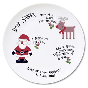 Personalised-Santa-and-Rudolph-Mince-Pie-and-Carrot-Christmas-Plate