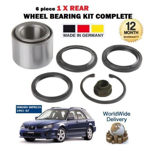 FOR SUBARU IMPREZA 1.6 1.8 2.0 4WD R 1993-2007 NEW 1x REAR WHEEL BEARING KIT