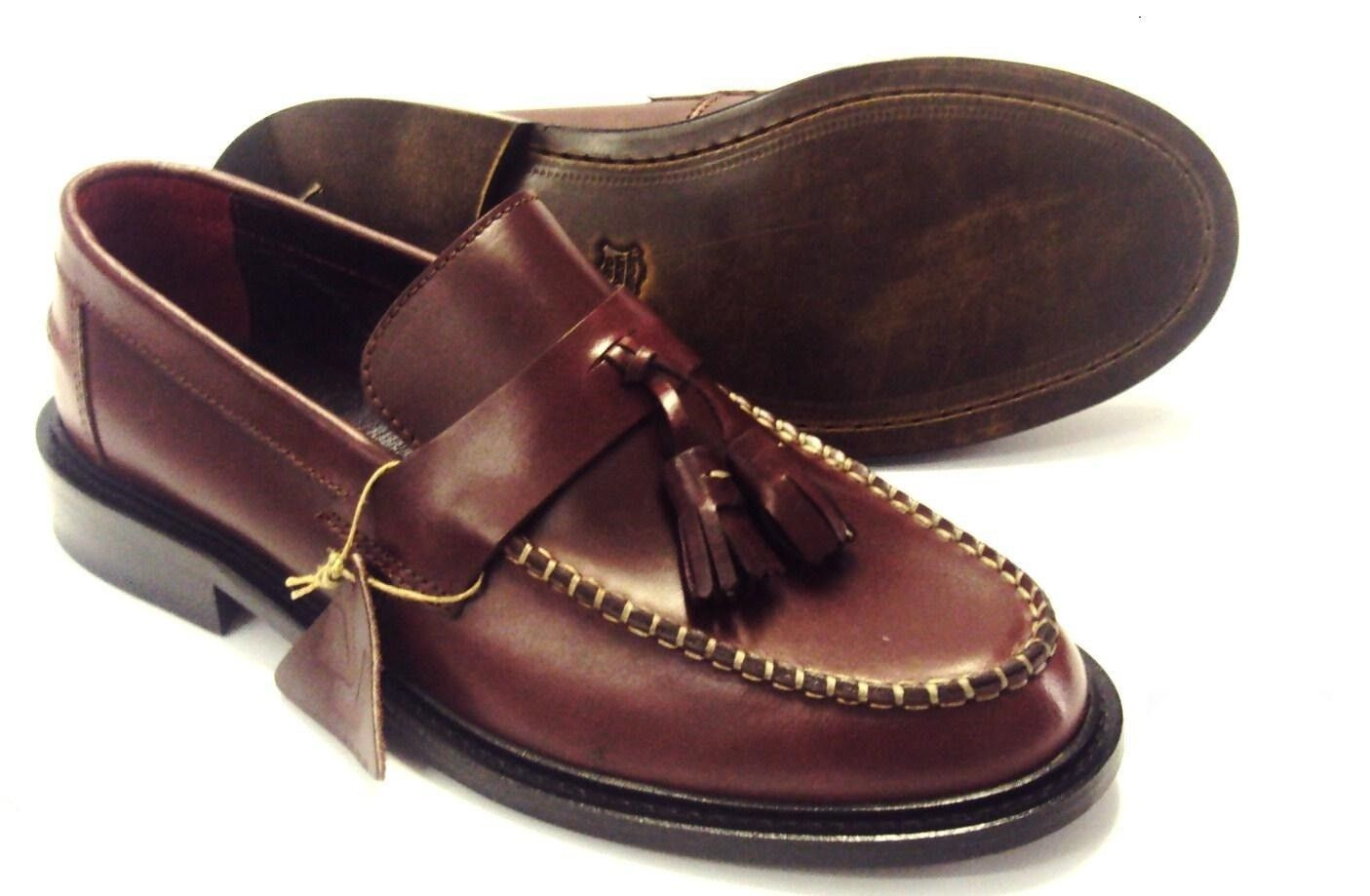 Delicious Junction Burgundy Burgundy Junction Loafers Retro Tassle Loafers Schuhe`s 78dbeb
