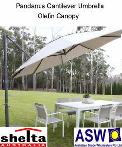Details about Octagonal 330cm Shelta PANDANUS Cantilever Umbrella - Various  Colours