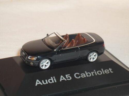 Audi A5 A 5 Cabrio Cabriolet Phantom Schwarz Phantomschwarz Ho H0 1//87 Herpa Mod