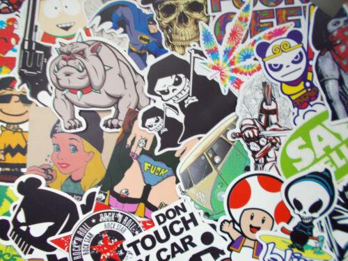 Deko .. Sticker Decal Aufkleber 50-teiliges Set Ideal für Stickerbomb Laptop