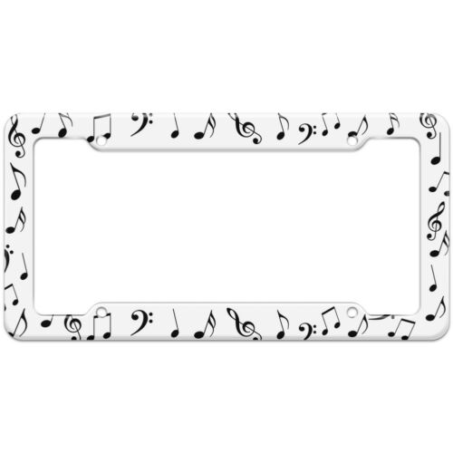 Music Musical Note Treble Clef Pattern License Plate Frame