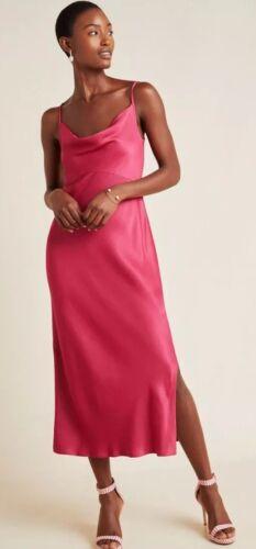 Anthropologie Raseberry Bias Slip Dress Size XS