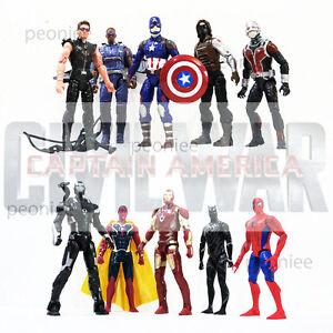 Marvel-Avengers-Super-Heroes-Captain-America-Iron-man-Falcon-Action-Figure-Toys