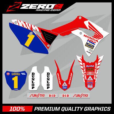 HONDA CR CRF Motocross Graphics 125-450 BLOCK RED WHI Custom MX Graphics Kit