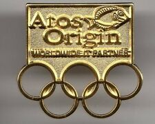RIO 2016 OLYMPIC GAMES. SPONSOR PIN. ATOS ORIGIN WORLDWIDE IT PARTNER. GOLDEN