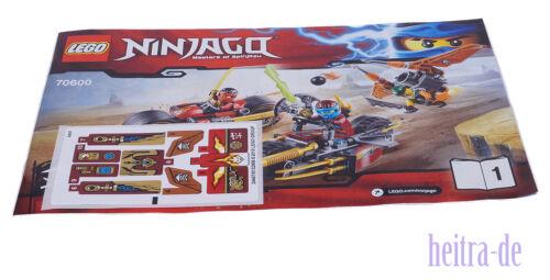Aufkleber // njo215 NEUWARE Sqiffy mit Fluggerät Bauanleitung LEGO Ninjago