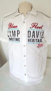 Camp-David-Hemd-kurzarm-verschiedene-Farben-Neu