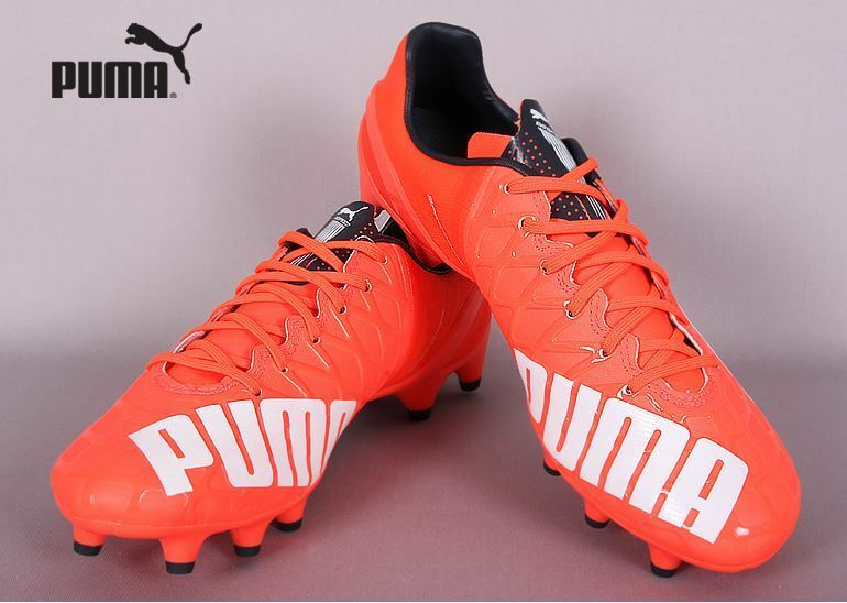 PUMA evoSPEED 1.4 FG 10326401 ROT Soccer Football Cleats Schuhes Stiefel Spike