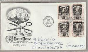 """Ersttagsbrief FDC USA """"Commemorating Cessation of Nuclear Testing"""" 1964 Marken"""