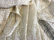 "New Beautiful Cream Cotton Lace Fabric 56"" 143cm Cloth Material Garment Dress"