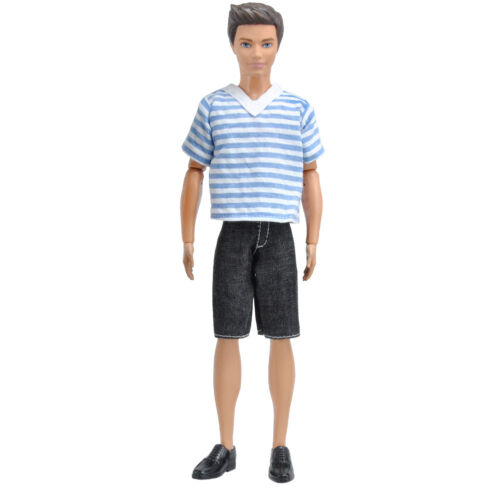Doll Clothes Casual Wear Shirt  Pants Trousers Outfit for Boy Dolls MG