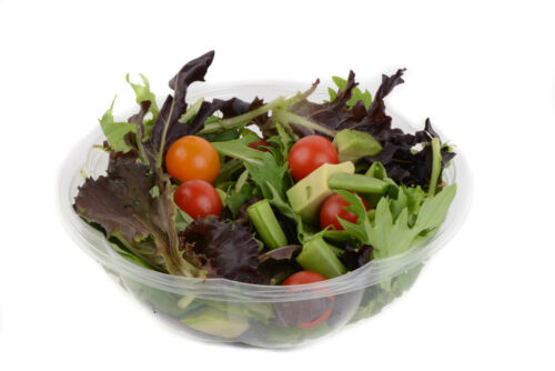 15 64 oz Clear Plastic Salad Bowls with Airtight Lids BPA Free Food Containers