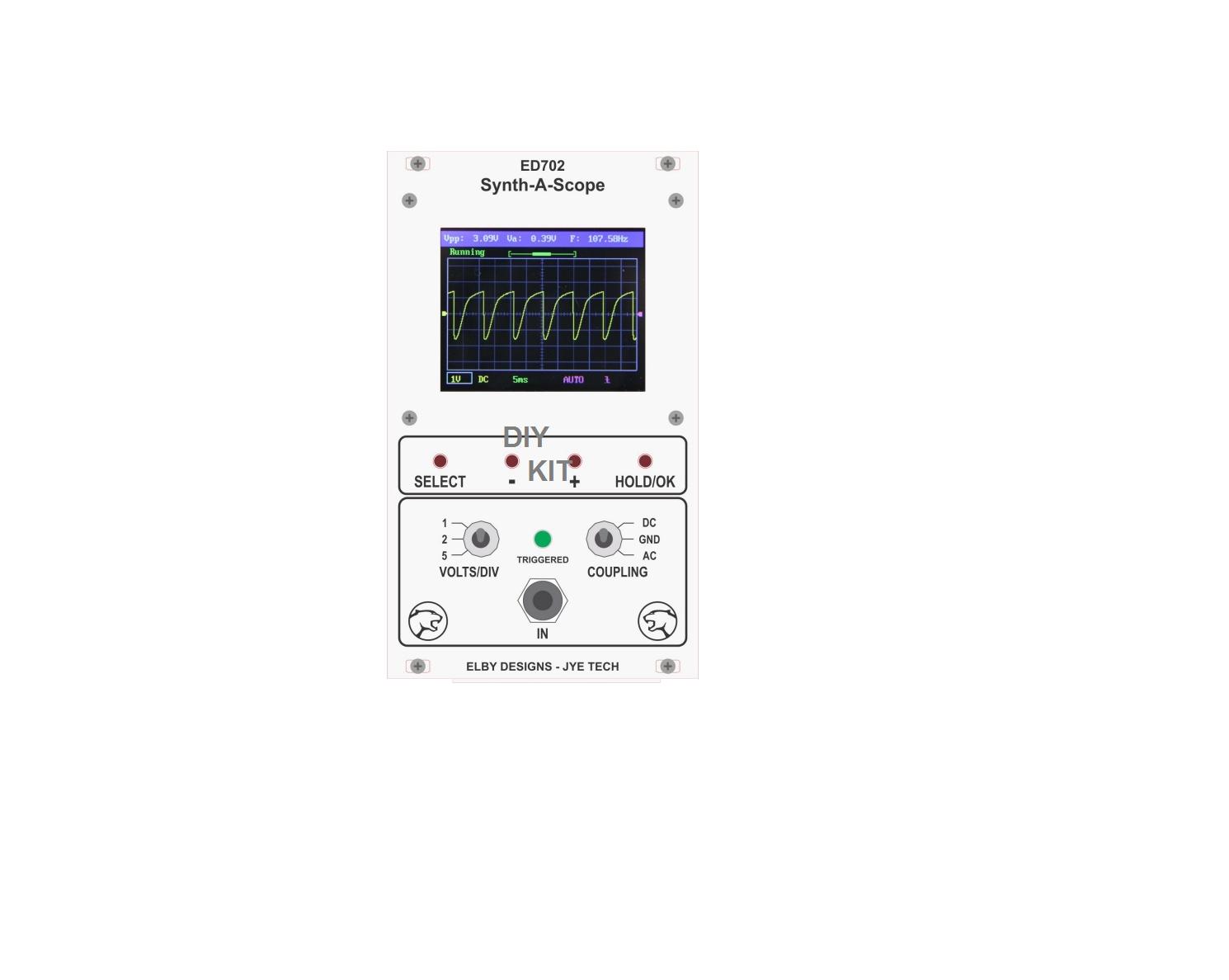 ELBY-DESIGNS ED702 SYNTH-A-SCOPE LCD OSCILLOSCOPE EURORACK SYNTHEGrößeR DIY K IT
