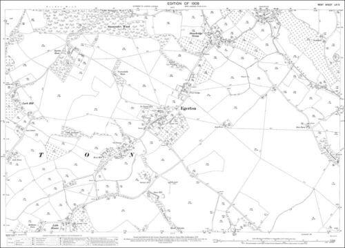 Egerton OS Kent 54-9-1907 old map repro