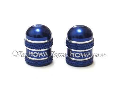 MOWA AMERICAN Type TUBE VALVE CAPS SCHRADER 2pcs-Blue U.Z BIKE