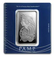 100 Gram Pamp Suisse Silver Ingot Bar Sealed Assay New Card Lot# N 7
