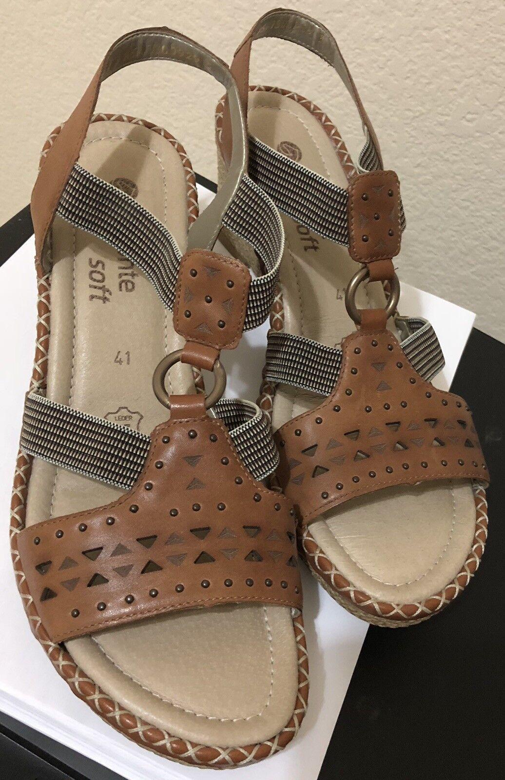 Remonte Remonte Remonte Mujer Zapatos Ursula Riek Marrón Cuero Sandalias Talla 9.5 (EUR 41)  exclusivo