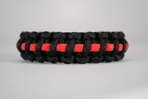"""550 Paracord Survival Bracelet Cobra Black//Denim /""""Made in the USA/"""""""