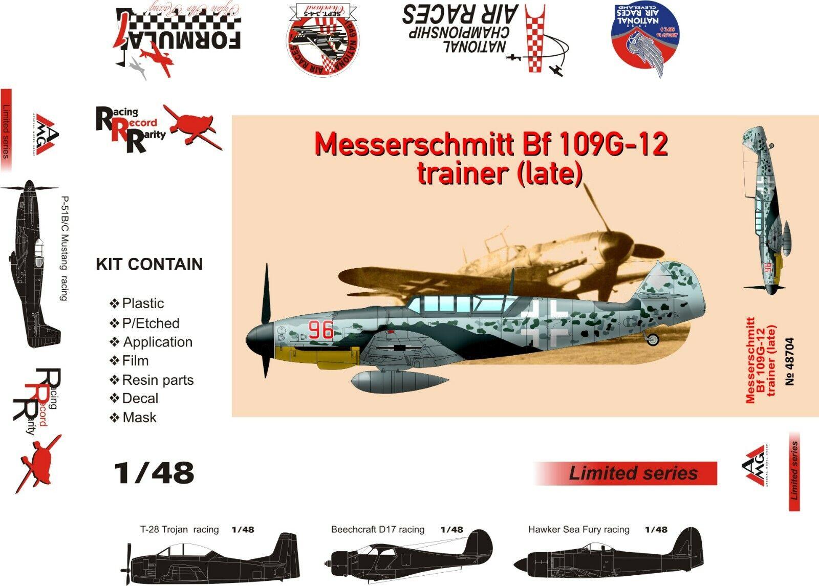 1 48 Bf-109G12 - NEW AMG multimedia kit (+ PE, resin)