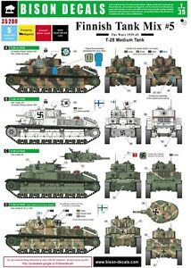 Bison-Decals-1-35-Finnish-Tank-Mix-5-T-28-35200