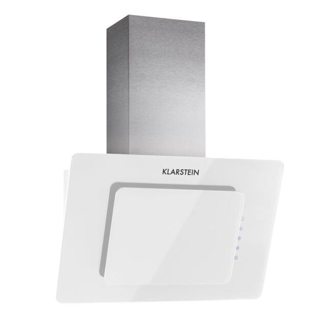 Klarstein Lorea hotte aspirante tête libre tactile 60 cm 280 m³/h - verre blanc