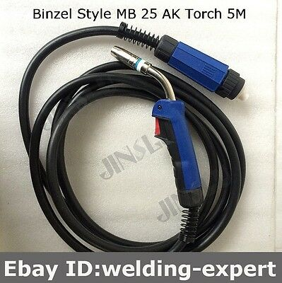 15/' 250A MIG Welding Gun Euro connection Replacement for Longevity Esab Tweco #2