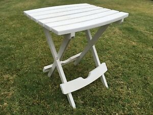 Image Is Loading Small White Plastic Collapsible Portable Patio Beach Picnic