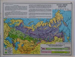 1961-SOVIET-MAP-SOVIETUNION-AGRICULTURE-FOREST-SOCIALIST-REPUBLIC-POPULATION