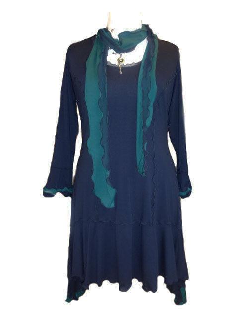 C42 Caroline Ann Panelled Tunic Top, Plus Größes to Größe 40 Made to order.