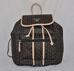 0f4cf66deb68  79 GUESS Nichols Backpack School Book Bag Sac Purse Logo Blue Black ...