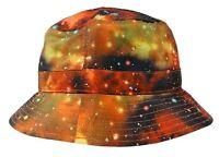 Unisex Kb Ethos Orange Galaxy Fashion Bucket Hat Cap 100% Polyester One Size