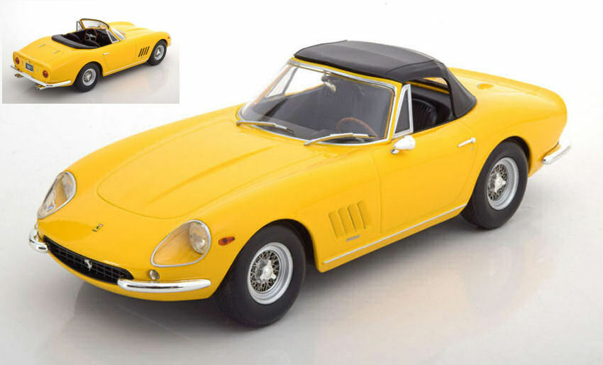 Ferrari 275 gtb4 teil spyder 1967 gelbe 1,18 modell kk - skala