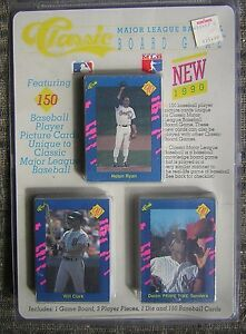 Unopened 1990 Classic Major League Baseball 150 Card Set With Board