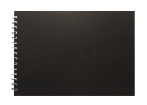 Pink Pig A4 Landscape Display Book270gsm Black Card 25 LeavesBlack