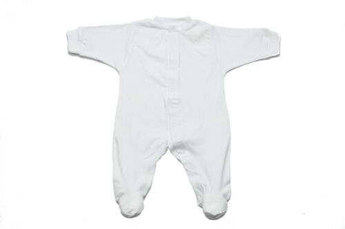 BABY SLEEPSUIT BABY SLEEPWEAR 100/% COTTON WHITE