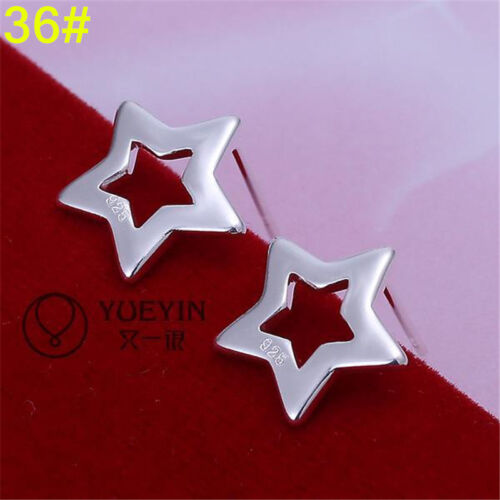 WHOLESALE FASHION JEWELRY SOLID Silver WOMENS 925STERLING SILVER EARRING GIFT