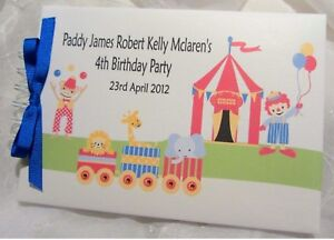 personalised baby boy first 1st birthday guest book photo album