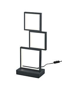 Lampada Da Tavolo Moderna A Led Design Nero Trio 527710332 Sorrento Ebay