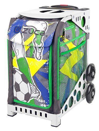 Zuca Sport Insert Bag Striker Insert & White Frame with Flashing Wheels