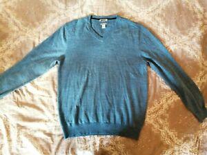 DKNY-Pullover-gr-L-Blau-Merinowolle-Blend-TOP