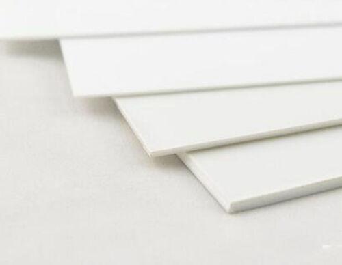 1 pcs ABS Styrene Plastic Flat Sheet Plate 0.5mm x 100mm x 100mm white