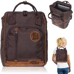 590e503d226a1 Das Bild wird geladen Rucksack-Damen -Elephant-Finn-Tasche-A4-Alltagsrucksack-Aktentasche-