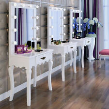 triple dressing table mirror led lights hollywood illuminated vanity