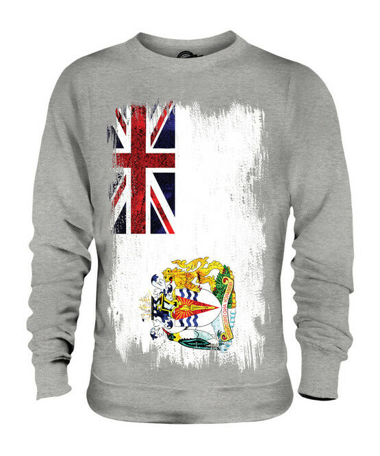 BRITISH ANTARTIC TERRITORY GRUNGE FLAG UNISEX SWEATER TOP FOOTBALL GIFT SHIRT
