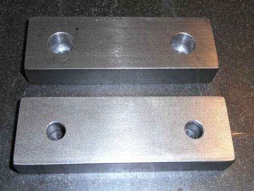 "6 x 2 x 1/"" Standard Soft Jaws for Kurt 6/"" Vises Machinable 1018 Steel USA Free"