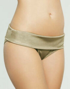 LADIES-FIGLEAVES-Fortune-Fold-Waist-BIKINI-BRIEF-Green-SWIMWEAR-UK-18-BRAND-NEW