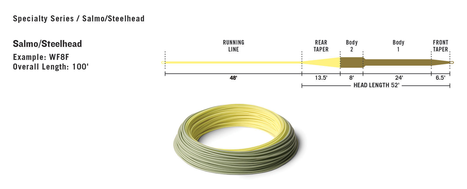 NEW RIO RIO NEW INTOUCH IN TOUCH SALMO STEELHEAD WF-6-F  6 WEIGHT FWD FLOATING FLY LINE 53bb00