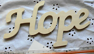 WOODEN-Word-Script-034-Hope-034-180-x100x5mm-Ready-Color-Your-Choice